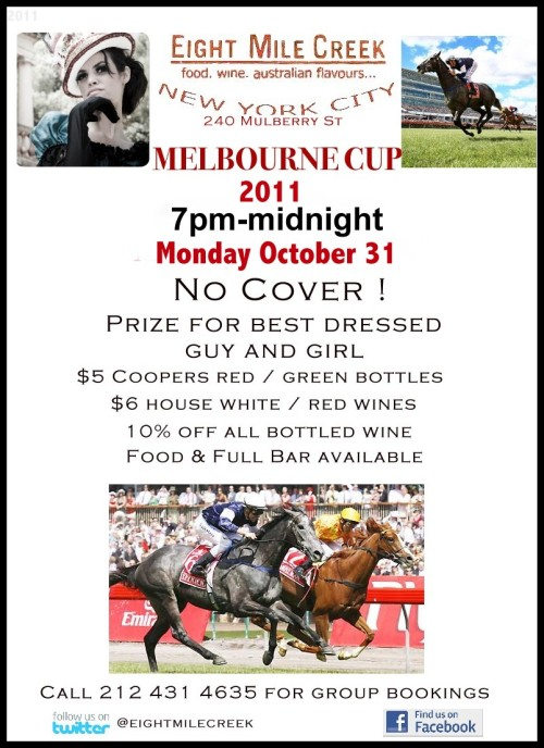 Join us MONDAY night for the MELBOURNE CUP!
