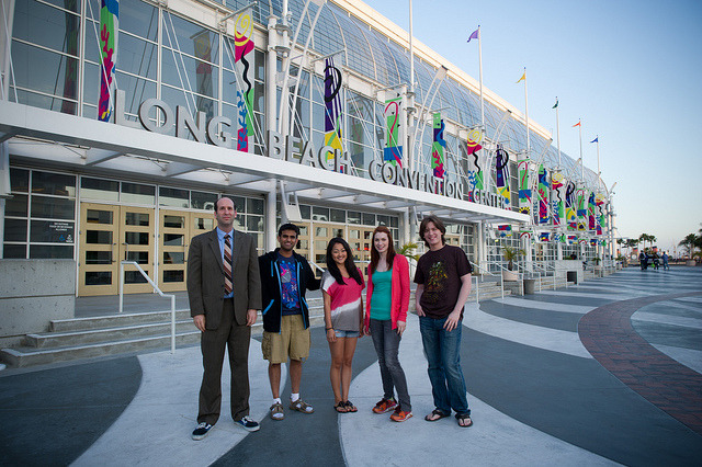 Behind the Scenes – The Guild Season 5 Cast outside Long Beach Convention Center by watchtheguild on Flickr.We're going to Long Beach Comic-Con 2011 this weekend