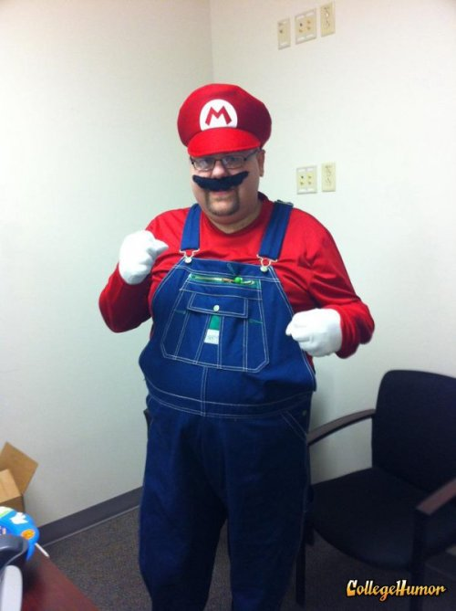 Mario This costume is pretty obscure. Anyone know what it is? Do you like money? Is your costume better than this guy's? Then click here to submit your picture to the 2011 CollegeHumor Halloween Costume Party contest!