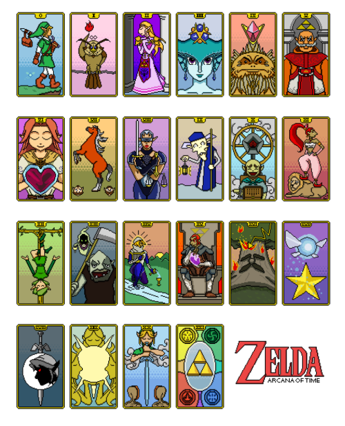 euthanasian:  My submission for Cory Schmitz's Zelda Zine for GameCity. I haven't drawn anything in a really long time… so this was fun.Arcana of Time.yayifinallymadesomethingagain