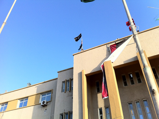 Al Qaeda's flag can now be seen atop Benghazi's courthouse. We have a feeling that this won't end well.
