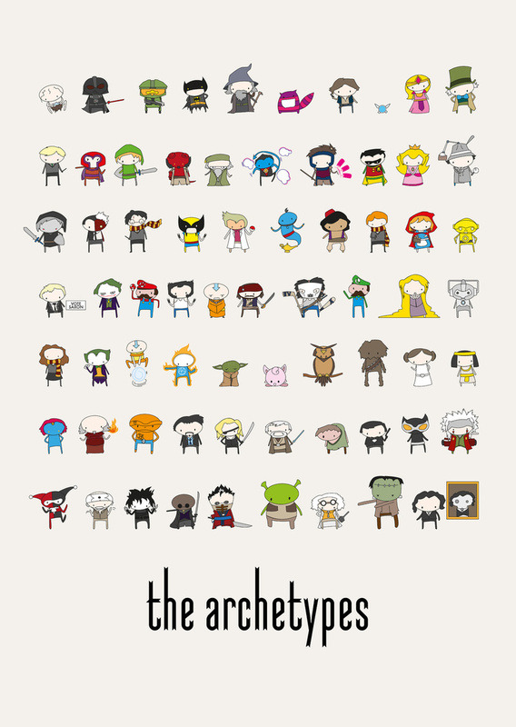 insanelygaming:  The Archetypes - by Justin Temporal Available on Society6