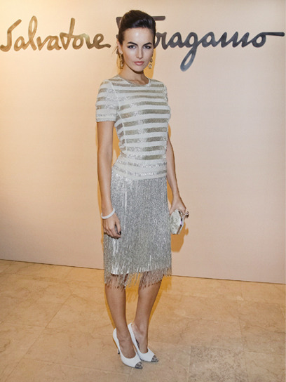 Camilla Belle is one of our best-dressed celebs of the week in a silvery Salvatore Ferragamo dress. Check out the rest of the stars who topped our list »
