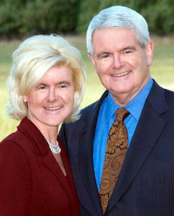 Newt and his beautiful third wife Callista