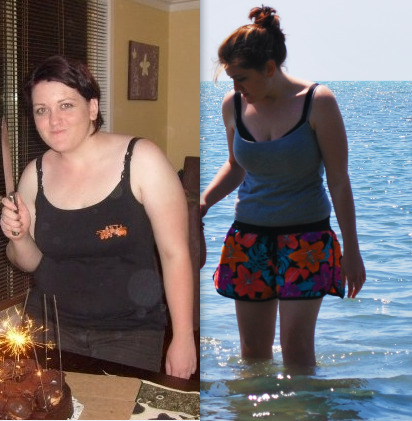 chelseasunrise:  I was overweight since I was 8 year old. I lost 7kg last year but I decided to finally do something about serious about my weight around 7 months ago. I lost 20kg in 5 months. I have stopped trying to lose weight as I am pretty happy with myself now but am still losing a few kilograms here and there whilst trying to find the right balance in maintaining my weight. My highest weight was 83kg (in the before photograph) and my current weight is 55.5kg (a few kilograms lighter than the after photograph).I am now a happy and healthy 20 year old and feel like I can do anything! :)