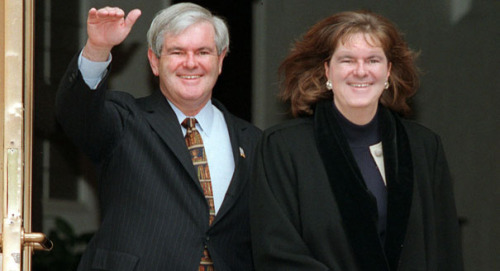 Newt with second wife Marianne