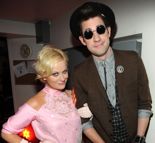 galacticunicorn: Amy Poehler and John Krasinksi as Andy and Duckie from Pretty in Pink.