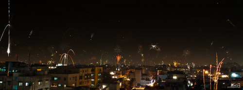 Diwali Night Hyderabad Skyline by swarat_ghosh on Flickr.