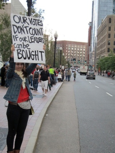 #OccupyBoston protestor hits the nail on the head!