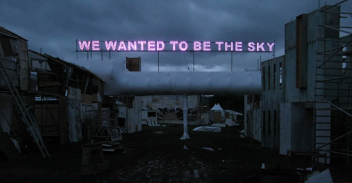 We wanted to be the sky by Tim Etchells.  Produced by the amazing Neon Circus. I've written previously about the work of artists Tim Etchells and Rob & Nick Carter. Their neon and LED works have been created with the technical help of Neon Circus who have a long history of producing work for architectural, TV and art projects. There is some beautiful work shown on their site, some you might recognise.