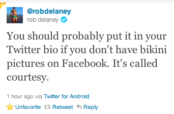 follow @robdelaney. right meow.
