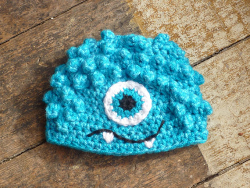 Little monster hat for your little monster at http://cheekychumy.etsy.com Can be made in all sizes. xxx