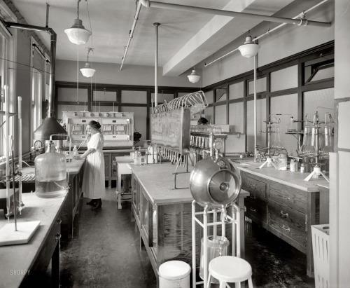 "Washington, D.C., circa 1922. ""Corby's laboratory."" Another look at Mrs.  M.M. Brooke, ""chemist in charge of the Corby Baking Company  laboratory,"" also seen here. National Photo Company Collection glass negative. View full size."