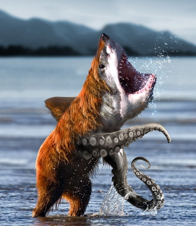 I see your Sharktopus and raise you SHARKBEARTOPUS