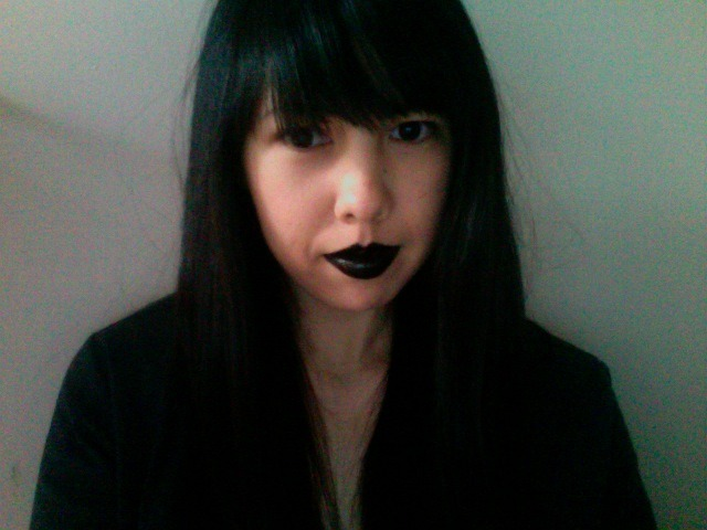 gpoy halloween edition. i kind of want to wear black lipstick all the time now.