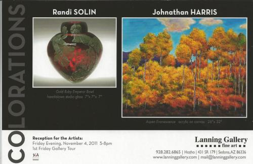Solinglass Show! In Sedona AZ! at Lanning Gallery on November 4th and 5th! Meet the artist herself! 5pm to 8 pm Nov. 4th! hope to see you there!