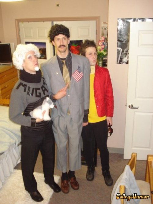 Mugatu, Borat and Derek Zoolander Looking really, really ridiculously good looking