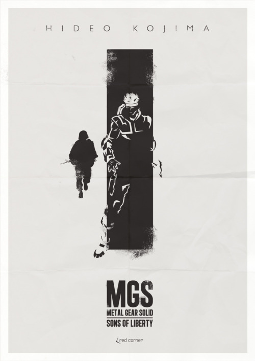 METAL GEAR SOLID: SONS OF LIBERTY ALTERNATE GAME POSTER
