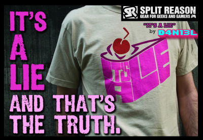 "d4n13ldesigns:  ""It's a lie"" by D4N13L Now available on SplitReason!!   Kawaiixnyappy: my babe's going love this :)"