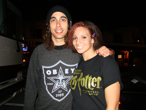 Me and my future husband, Vic Fuentes:333 Haha I'm such a mess but he's so cute omg:3 Gamchangers, April 18 2011, St. Pete, FL (via iateyourguts)