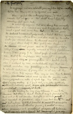 fuckyeahmanuscripts:   F. Scott Fitzgerald's handwritten manuscript of The Great Gatsby.