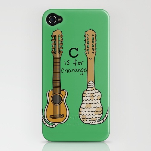 (via C is for Charango iPhone Case by Illustrated by Jenny | Society6)