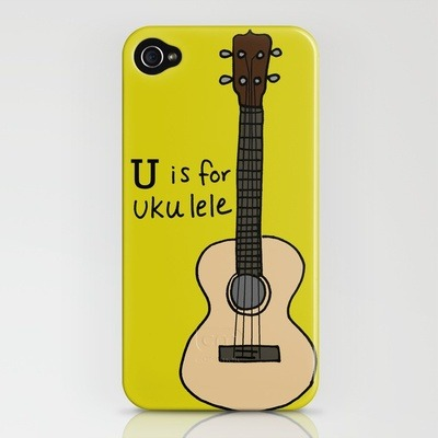 (via U is for Ukulele iPhone Case by Illustrated by Jenny | Society6)
