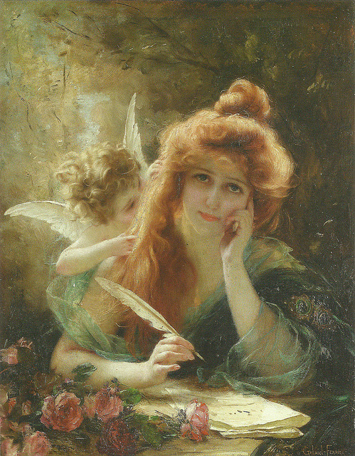 lorilynn15:  Gabriel-Joseph-Marie-Augustin Ferrier (French, 1847-1914) The love letter