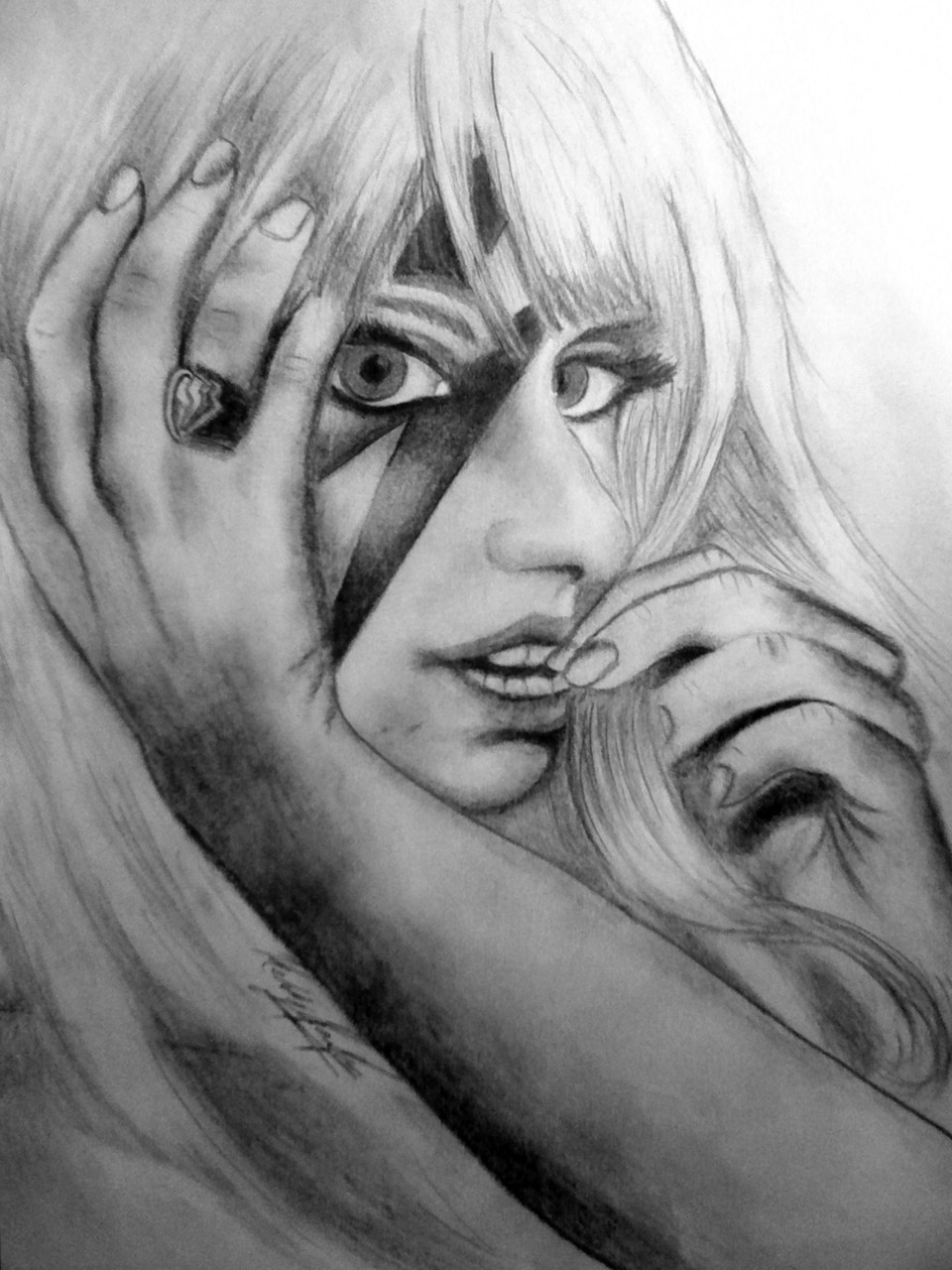 Decided to draw Lady GaGa because she is just too awesome not to. Graphite.