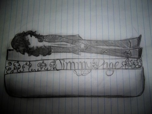 fuckyeahterriblerockstarart:  A sleeping Jimmy Page fondling his crotch.