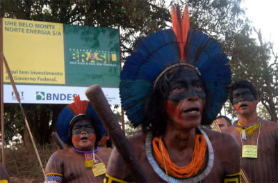 "cultureofresistance:  Occupy Belo Monte: indigenous stage ""permanent"" protest against Amazon dam in Brazil Hundreds of people are participating in a protest against the controversial Belo Monte dam in Altamira, Brazil, reports Amazon Watch. Indigenous leaders, fishermen, and others dependent on the Xingu River have gathered to occupy the Monte Dam construction site. The protesters say they will stay until the $11-17 billion project is canceled. ""Belo Monte will only succeed if we do nothing about it. We will not be silent. We will shout out loud and we will do it now,"" said Juma Xipaia, a local indigenous leader, in a statement. ""We only demand what our Constitution already ensures us: our rights. Our ancestors fought so we could be here now. Many documents and meetings have already transpired and nothing has changed. The machinery continues to arrive to destroy our region."" The protesters are reportedly blocking the Trans-Amazon Highway (BR-230) near Santo Antônio village, where it passes the proposed construction site, according toAmazon Watch. Belo Monte is extremely controversial, raising widespread outcry from environmentalists, indigenous groups and their advocates. The project would block most of the flow of the Xingu River and inundate thousands of hectares of rainforest. Critics say the dam will operate well below capacity for much of the year when river levels are low. It will also disrupt fish migration patterns, affecting local livelihoods."