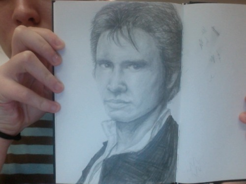 Crappy photobooth picture of my Han Solo. Will take real picture sometime. Maybe. I'm pretty lazy.