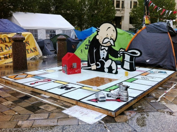 This just in, Occupy London Banksy Piece….