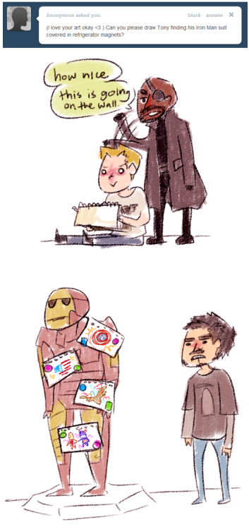 herosandwich-:  dilfosaur:  tony you should be happy  tony omg