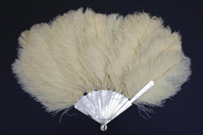 Ostrich and Pearl Wedding Fan, Met Museum, 1887