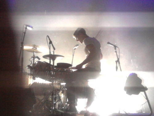 Right in front of Mark Pontius Oct. 18. 2011 <3