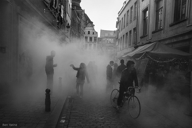 Foggy Day in the streets of Brussels by Ben Heine on Flickr.