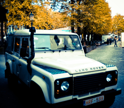 fall has arrived in belgium and the defenders are out
