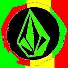 A Nice Volcam Logo Rasta Colors Red Yellow Green