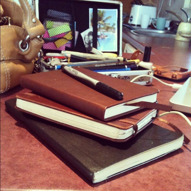 #moleskine #sketchbooks #drawing #artist #books #journal #notebook (Taken with instagram)