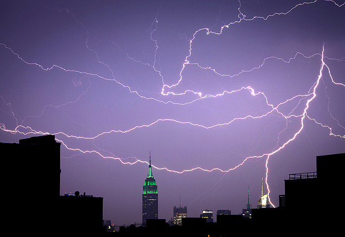 Lightning and the Empire State (by Several seconds)
