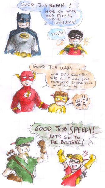 DCU - different upbringing by ~Levy-Comics
