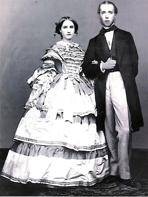 thevictorianlady:  Archduke Maximilian and Princess Charlotte of Belgium, the Emperor and Empress of Mexico Emperor Napoleon III sent Maximilian to Mexico to establish a satellite monarchy and an outpost across the Atlantic in the 1860's. Unfortunately for the young Emperor and Empress, the Mexican people did not take kindly to the foreign rulers. After only three years, the regime was toppled by Benito Juarez, and the 33 year old Maximilian was executed by a firing squad in 1867. His wife Charlotte's (or Carlota's) story was also tragic. In 1866 Carlota had traveled to Europe to establish support for Maximilian's faltering cause. She was already in the early stages of madness that would incapacitate her after her husband's brutal death, and her audiences with Napoleon and Pope Pius IX did not go well. She delivered an impassioned diatribe against Napoleon for abandoning her husband and then threw herself at the Pope's knees, screaming that Napoleon was plotting to poison her. When Vatican guards tried to pacify the hysterical woman, she accused them of being agents in Napoleon's pay who were planning to assassinate her. Carlota's brother then  placed her into the hands of doctors who promptly declared her insane. She spent the rest of her life confined to a castle near Brussels and died in 1927, at the age of 87.