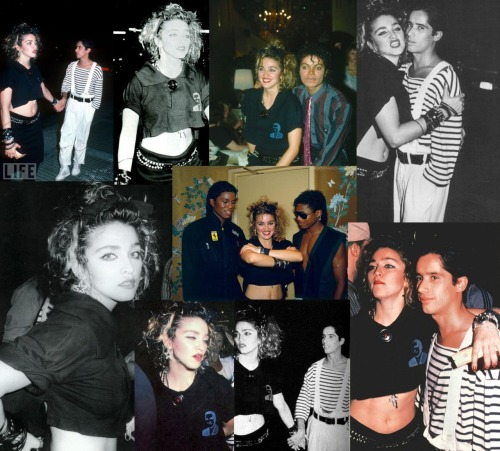 August 4, 1984 - Madonna and Jellybean meet The Jacksons at the Jackson Victory Tour at Madison Square Garden.