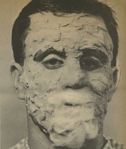 Scanned from the Do-It-Yourself Monster Make-Up Handbook by Dick Smith, published by Warren Publishing Company, New York, NY, 1965.