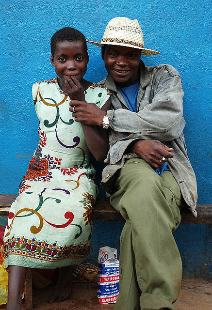 "Malawi couple … on Flickr.This is an ""old"" picture I took in Malawi, but somehow it came to mind today. Here's the original caption: ""Sugar daddy (?) and girl friend in Lilongwe marketplace … The photo was used in the Alan Guttmacher Institute's March 2005 ""Family Planning"" Journal to highlight this ""sugar daddy"" culture."" You can find the article at www.guttmacher.org/pubs/journals/3100605.html"