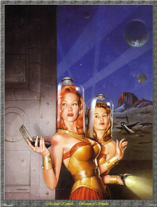 "spacequest:  Women of Wonder, the Classic Years: Science Fiction by Women from the 1940s to the 1970s Based on one of the most popular SF anthologies of all time, which dispelled the notion that women don't write ""real"" science fiction, this volume features stories by twenty-one seminal SF writers. Included are works by Leigh Brackett, C. L. Moore, Ursula K. Le Guin, and Judith Merril. Introduction and Bibliography by the Editor."