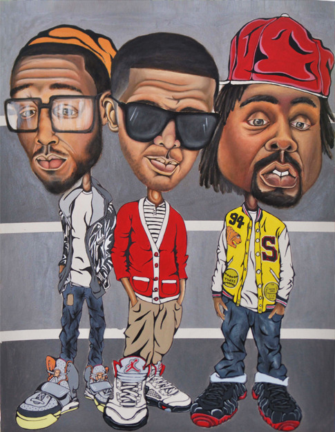 Kid cudi, Drake, Wale // Alternative art.