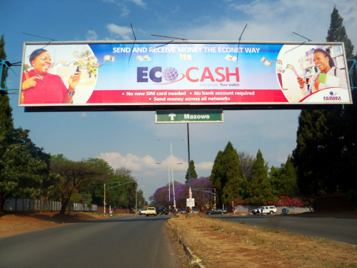 EcoCash, the opportunity to positively change local remittances. Somehow everybody says their competition is the banks. Don't agree with that. It's Zimpost!