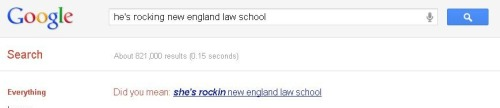 Google is apparently well aware that over 50% of current law students are female.